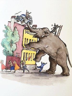 画像2: ロシア絵本・コナシェーヴィチ画「象とゾーイ」