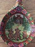 画像1: ロシア絵本・木製ロシア民芸品「さんびきのくま」柄お匙 (1)