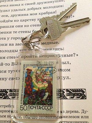 画像2: ロシア絵本・ビリービン切手キーホルダー