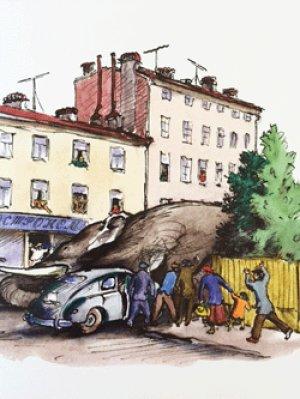 画像4: ロシア絵本・コナシェーヴィチ画「象とゾーイ」