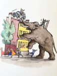 画像2: ロシア絵本・コナシェーヴィチ画「象とゾーヤ」 (2)